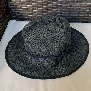 San Diego Hat Company Black & Gray Straw Fedora